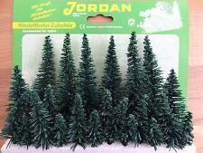 Bäume Jordan Fichten grün 23 St. H0 N und Z für Modellbahn Anlage etc.