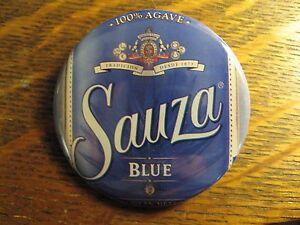Sauza Blue Tequila Mexican Agave Bottle Label Advertisement Button Lapel Hat Pin