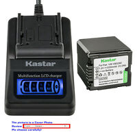 Kastar Battery LCD Quick Charger for Panasonic VW-VBG260 SDR-H60S SDR-H60P