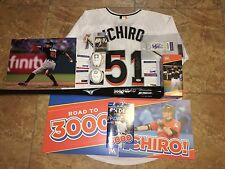 Ichiro Suzuki Signed 3,000 Hit Package Bat, HOF Ball, 3000 Hit Ball Jersey PSA
