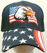 NEW UNITED STATES OF AMERICA USA FLAG AMERICAN BALD EAGLE PATRIOTIC BLUE CAP HAT