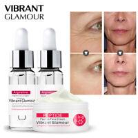 2PCS Argireline Collagen Eye Essence+Six Peptide Face Cream Anti Aging Whitening