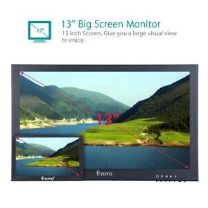 "13""1920x1080 IPS LCD Display CCTV USB HDMI/VGA Surveillance PC Monitor 300cd/m²"