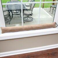 Faux Suede Draft Dodger - Weighted Door/Window Breeze & Noise Guard