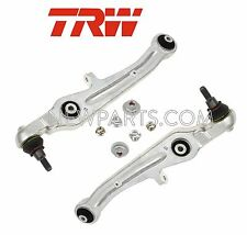 NEW Audi Pair Set of 2 Lower Forward Control Arms + Ball Joint & Bushing TRW OEM