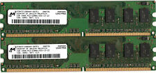 2 barrettes 1G DDR2 MICRON PC2-5300 CL5