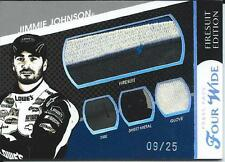 JIMMIE JOHNSON 2009 PRESS PASS FOUR WIDE / FIRESUIT EDITION 9/25