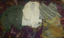 WOMENS CLOTHING LOT OF 4 NAME BRAND*EXPRESS, PAPAYA* DENIM JACKET, BLOUSE*NEW*