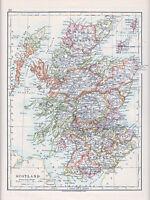 1912 MAP ~ SCOTLAND ~ SHETLAND ORKNEY ISLANDS DUMFRIES ABERDEEN INVERNESS ETC