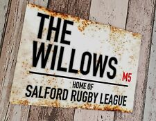 More details for salford red devils - the willows sublimated wall man cave plaque