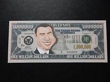 John Travolta $1 million Dollar Note Nouveauté Bill $1,000,000 Graisse laque