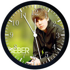Justin Bieber Black Frame Wall Clock Nice For Decor or Gifts X11