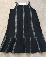 Gap New Girls Long Stripped Black Silver Dress Size 4 Year Old Rrp £19.99