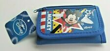 Mickey Mouse Tri Fold Wallet Coin Purse. Bright Blue, Bright Mickey Graphic