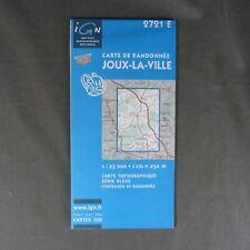 Carte IGN 2721 E - Série Bleue - Joux-la-Ville ( Yonne )