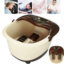 Foot Spa Bath  Electric Massager Heating Vibration Bubble Relax Rolling Massage