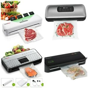 Vacuum Sealer Food Saver Machine with Starter Bags Rolls Food Safety Certified