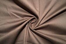 Brown Poplin #8 Cotton Lycra Spandex Stretch Woven Apparel Fabric BTY