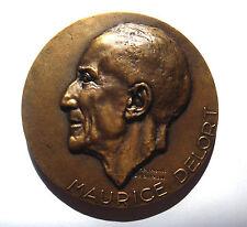 MEDAILLE MEDECINE. DOCTEUR M. DELORT 1905 - 1955. Par R. DELAMARRE. SADIKI TUNIS
