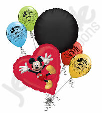 6 pc Mickey Mouse Red Heart Balloon Bouquet Party Decoration Disney Birthday