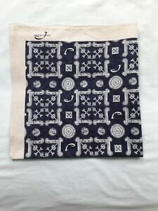 Jacob Cohen Pocket Square Handkerchief 100% Cotton Made in Italy