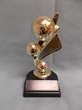 soccer trophy 3 ball theme topper weighted black base