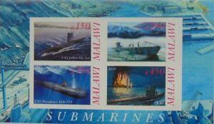 Submarines Jallao Providence U47 I-Boot Malawi m/s #L326 IMPERF