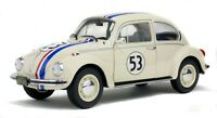 1973 VOLKSWAGEN BEETLE RACE 53 WHITE 1:18 DIECAST MODEL CAR BY SOLIDO S1800505