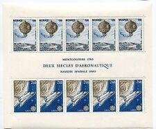 MONACO 1983 EUROPA CEPT SPACE BALLOON MNH SHEET