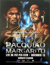 MANNY  PACQUIAO vs. ANTONIO MARGARITO : DUAL Signed Fight PROMO MEDIA CARD