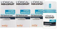 3 x 50ml LOreal Men Expert Hydra Sensitive Protecting Moisturiser