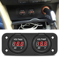 MICTUNING DC 12-24v LED Digital VoltMeter Boat Marine Gauge Dual Battery Monitor