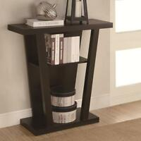 Cappuccino Finish Entry Hall Console Table with Storage Shelf by Coaster 950136
