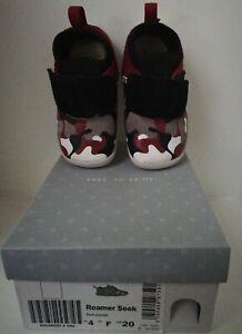Clarks Roamer Seek Red Combi Toddler Shoes Uk 4F Infants #65