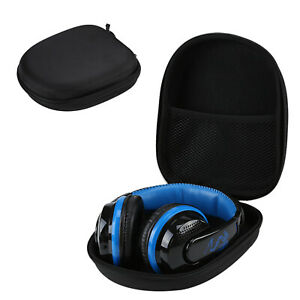 Black Earphone Headphone Headset Earbuds Case Carrying Hard Storage Bag UK