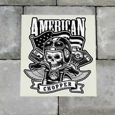 American Chopper Biker Skull Sticker Decal - 150mm x 169mm - SKU6575