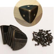 10x Antique Furniture Metal Corners Jewelry Box Case Corner Protector Home Decor