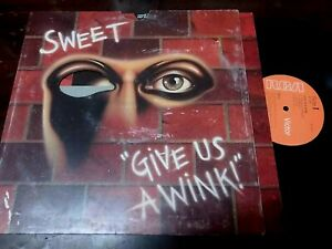"""SWEET - Give Us A Wink, LP 12"""" UK 1976"""