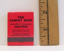 VINTAGE THE CARPET SHOP CHILLICOTHE OHIO RED ADVERTISING MATCHBOOK