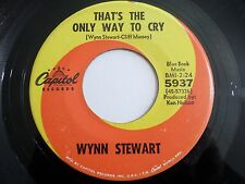 Wynn Stewart That's The Only Way To Cry / Cause I Have You 45 1967 Vinyl Record