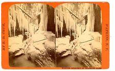 Watkins NY -WINTER SCENERY OF WATKINS GLEN- R.D. Crum Stereoview