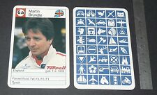CARTE COUREUR AUTOMOBILE 1984 FORMULE 1 GRAND PRIX F1 MARTIN BRUNDLE TYRRELL