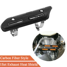 1x Motorcycle Exhaust Muffler Pipe Heat Shield Protector Guard with Mounting Ki