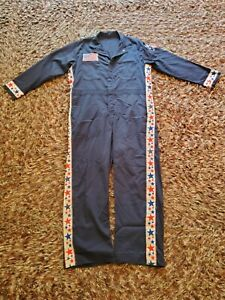 Vintage Mens Coveralls Made in USA, RED WHITE AND BLUE, blended navy Size 46R