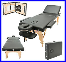 MASSAGE IMPERIAL® LIGHTWEIGHT BLACK PORTABLE MASSAGE TABLE COUCH BEAUTY REIKI