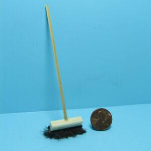 Dollhouse Miniature Outdoor Wood Push Broom IM66004