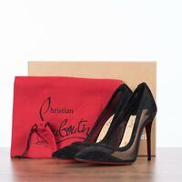 CHRISTIAN LOUBOUTIN 795$ GALATIVI 100 In Black Suede