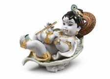 Lladro Krishna on Leaf Figurine