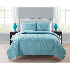 Quilt Bedding Set Queen Blue Beach Ocean Theme Seashell Starfish Sea Horse