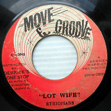 ETHIOPIANS reggae 45 LOT WIFE b/w Crystalites version MOVE & GROOVE vg h925